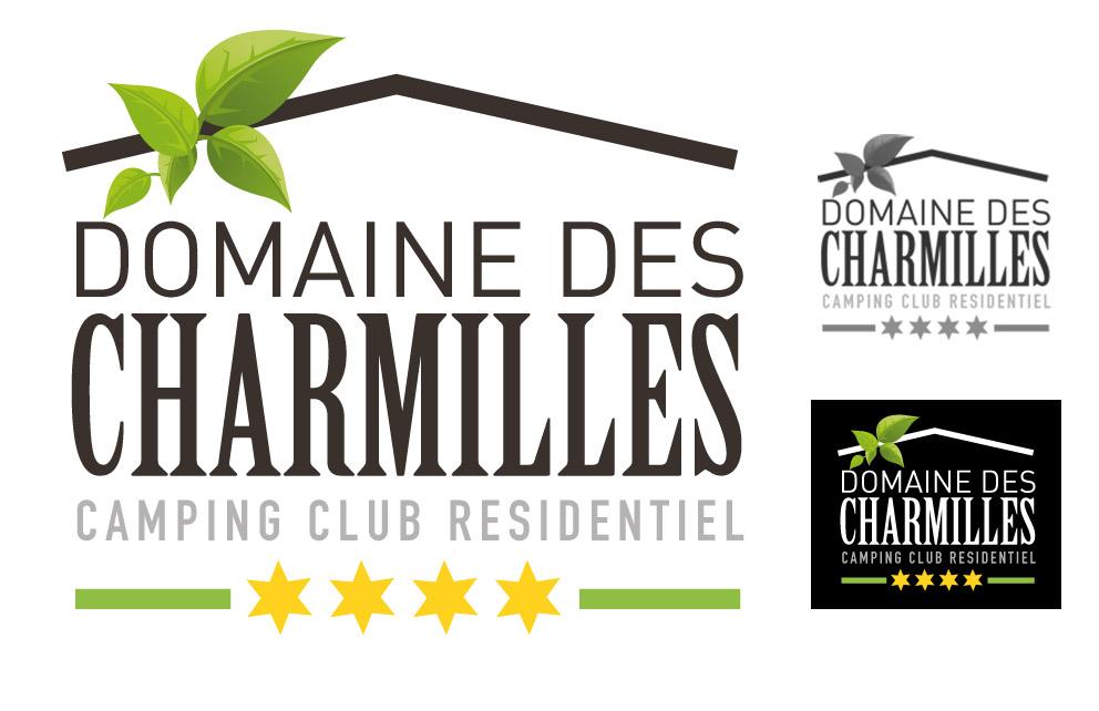 Création du logo du Domaine des Charmilles - Agence de communication CHAT BOTTÉ